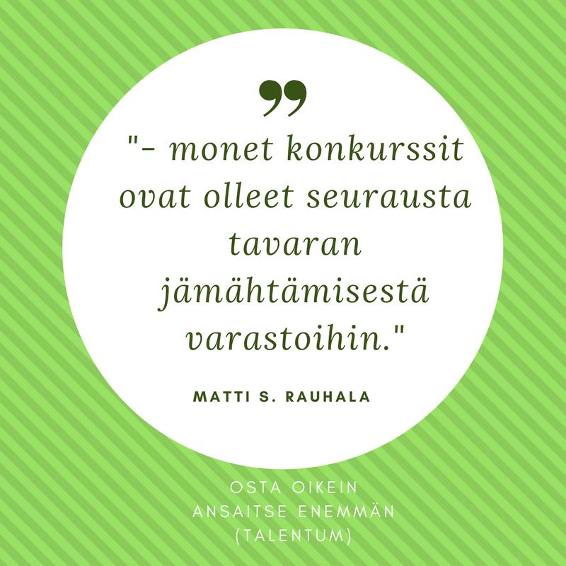 Haastattelussa Osta oikein ansaitse enemmän -kirjan kirjoittaja Matti S. Rauhala